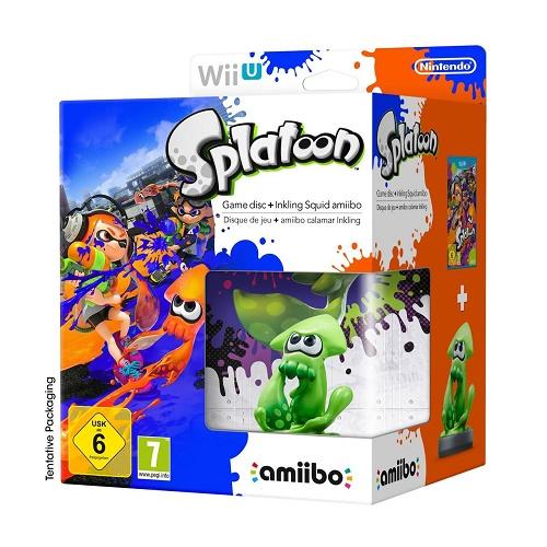 Splatoon with Amiibo Squid Wii U Game