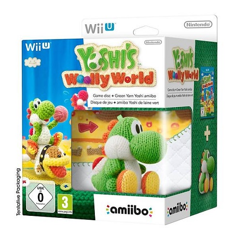 Yoshis Woolly World with Amiibo Yarn Yoshi Wii U Game