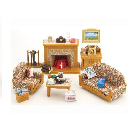 sylvanian families country living room set toys gamereload. Black Bedroom Furniture Sets. Home Design Ideas