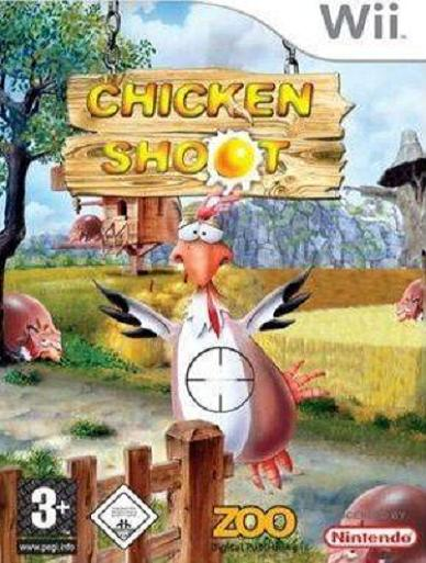 Chicken Shoot with Gun Nintendo Wii Game