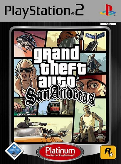 Grand Theft Auto San Andreas Platinum PS2 Game