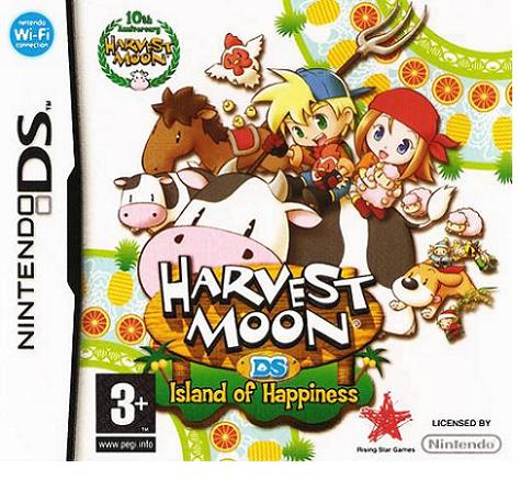 Harvest Moon Island of Happiness Nintendo DS Game