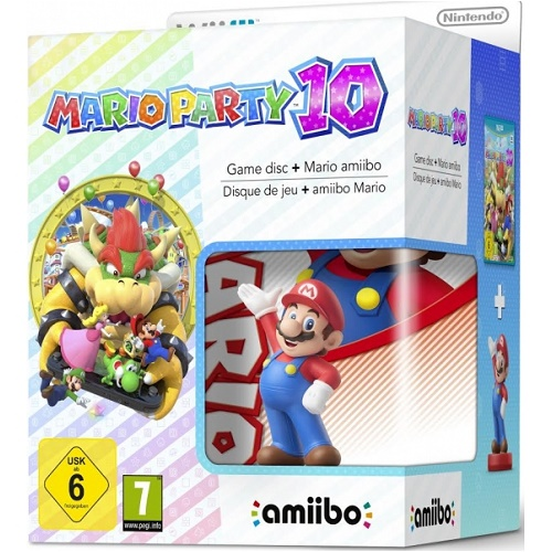 Mario Party 10 with Mario Amiibo Figure Wii U Game