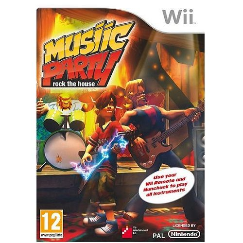 Music Party Rock The House Nintendo Wii Game