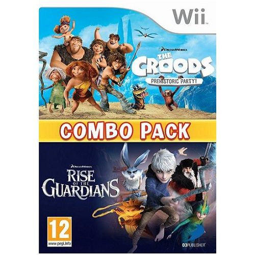 The Croods & Rise of the Guardians Combo Pack Nintendo Wii Game