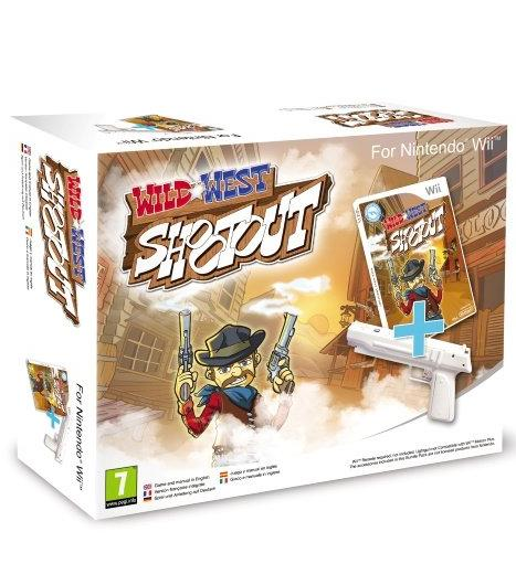 Wild West Shootout with Gun Nintendo Wii Game