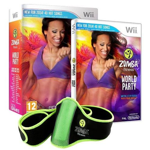 Zumba Fitness World Party Bundle Pack Wii Game