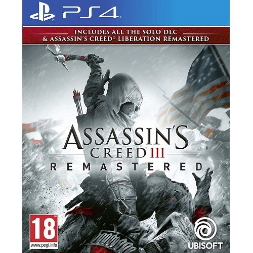 Assassins Creed III (3) REMASTERED PS4 Game