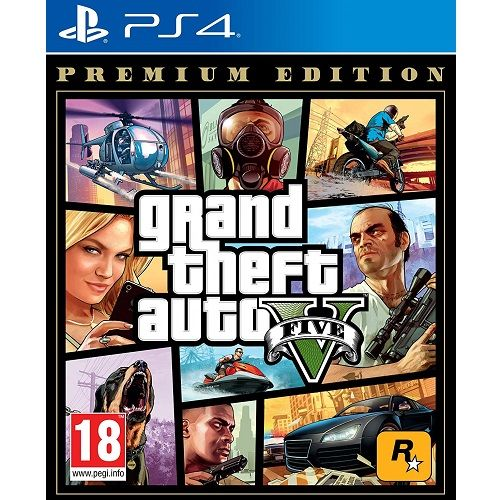 GTA Grand Theft Auto V Premium Edition PS4 Game - Gamereload.co.uk