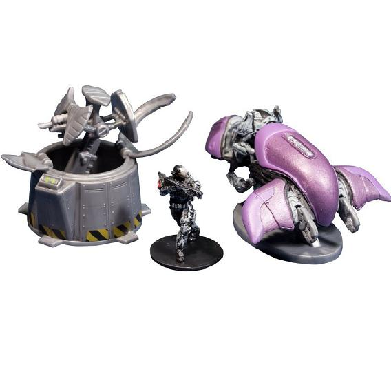 Halo 4 Series 1: Micro Ops Ghost vs Wolf Spider Turret - Figures | Gamereload.co.uk