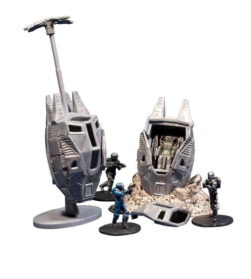 Halo 4 Series 1: Micro Ops ODST Drop Pods - Figures