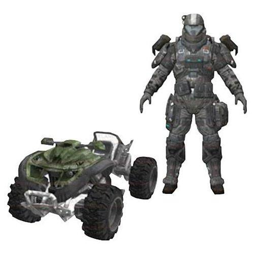 Halo Reach Mongoose Vehicle Box Set (Series 5) ODST Jetpack Trooper (Single Unit) - Figures