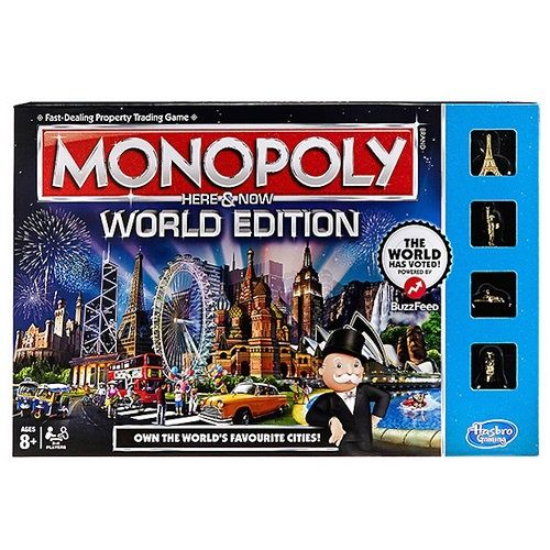 Here and Now World Edition Monopoly Board Game