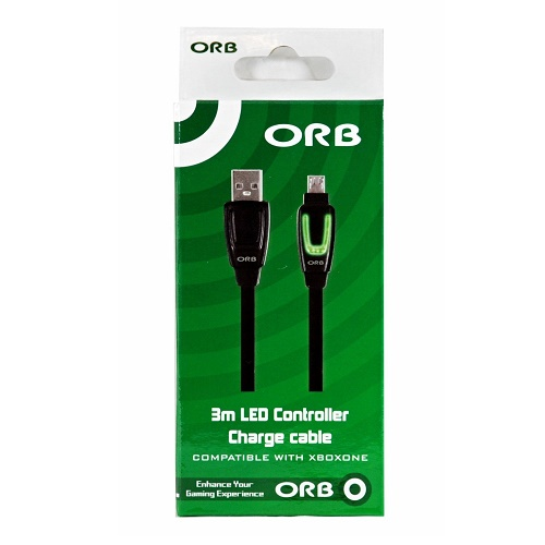ORB 3M LED Charge Cable for Xbox One