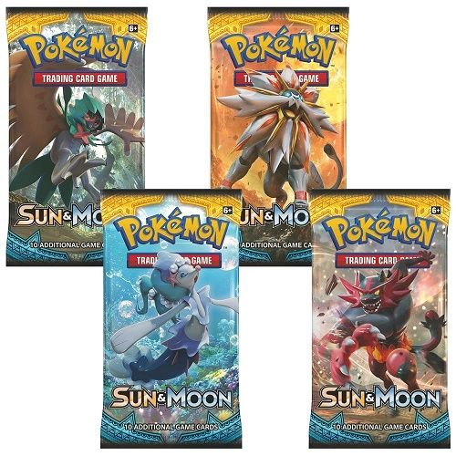Pokemon Sun & Moon TCG x4 Sealed Boster Packs