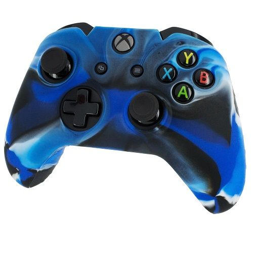 Pro Soft Silicone Skin Cover Blue Camo Xbox One