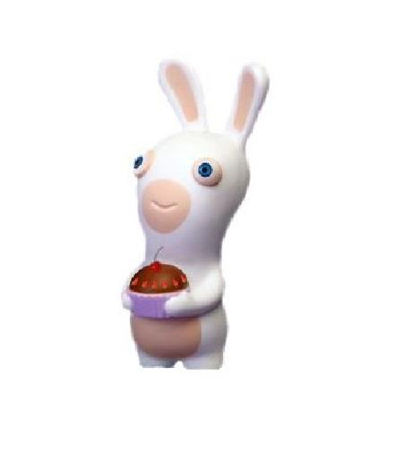 Raving Rabbids Squeezee Rabbid Figure - Toys