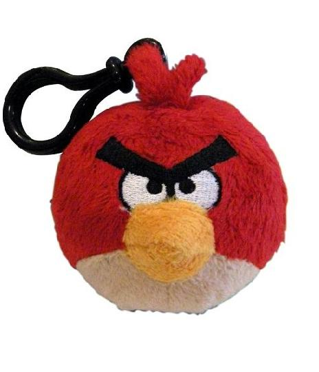 Single Angry Birds Back Pack Clip Plush  - Toys