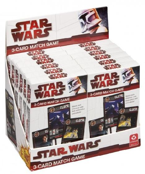 Star Wars Clone Wars 3 Card Match Game Pack of 12 - Toys