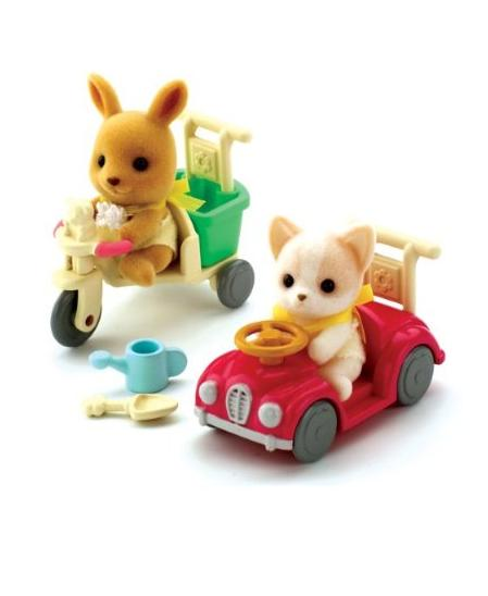 Sylvanian Baby Car and Tricycle Ride-ons - Toys