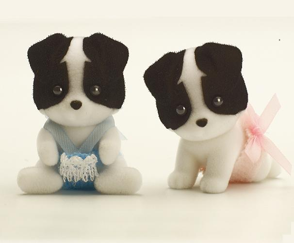 Sylvanian Border Collie Twin Babies - Toys