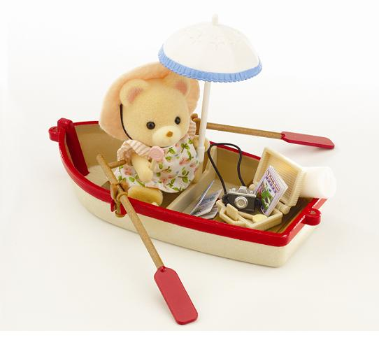 Sylvanian Canal Rowing Boat & Figure - Toys