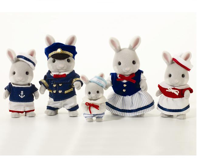 Sylvanian Celebration Sea Breeze Rabbit Family - Toys