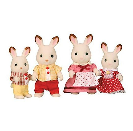 Sylvanian Families Chocolate Rabbit Family - Toys