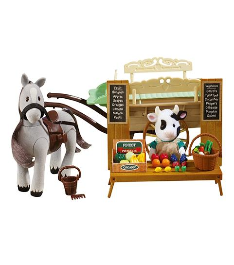 Sylvanian Families Farm Horse and Cart - Toys