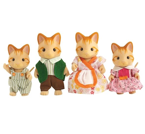 Sylvanian Families Ginger Cat Family - Toys