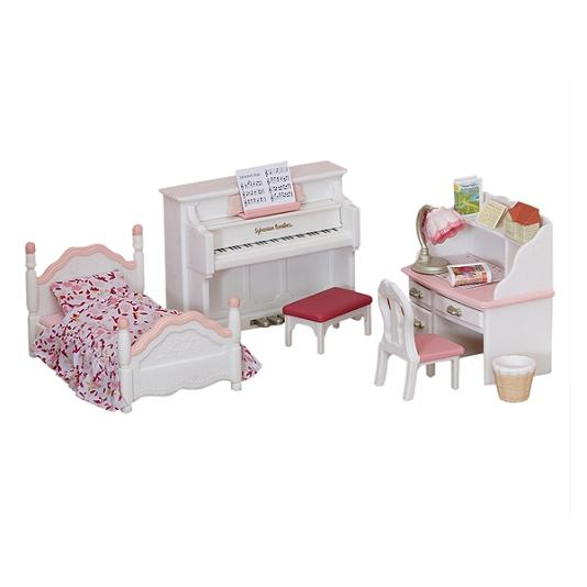 Sylvanian Families Girl's Bedroom Set - Toys