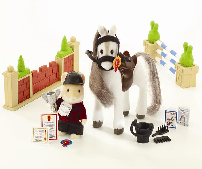 Sylvanian Games Showjumping Set - Toys
