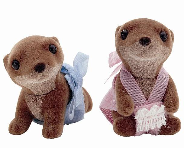 Sylvanian Otter Twin Babies - Toys