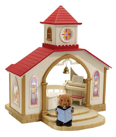 Sylvanian Wedding Chapel with vicar - Toys