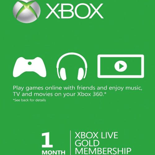 Xbox Live Gold 1 Month Membership