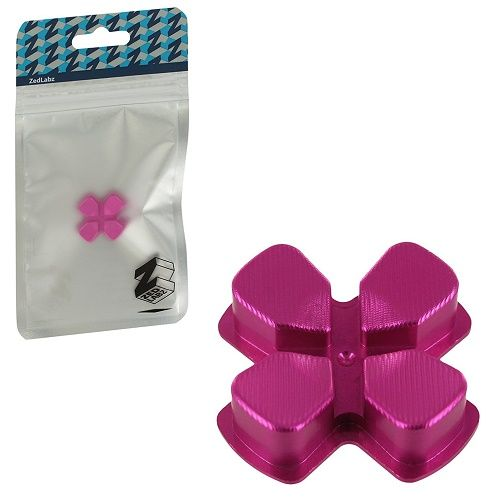 ZedLabz PS4 Alloy Metal Directional D Pad Arrow PINK Button